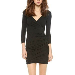 James Perse Skinny Wrap Tuck Dress Long Sleeve